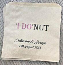 Personalised Wedding Donut Bags
