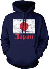 Japan Flag Distressed Old Font Japanese Country From JPN Born Hoodie Sweatshirt