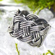 massiver Wikingerring Silberring 925 Silber Größe verstellbar Handgeschmiedet