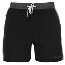 """Maillot short Pierre CARDIN noir/gris modèle """"Swim"""" - Du S au XXXL"""