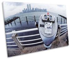 Binoculars New York City SINGLE CANVAS WALL ART Print Picture