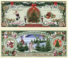Holiday Cheer 1 Million Dollars Christmas Color Novelty Money Fun Item