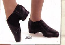 Leather Neoprene Tap Boot Unisex  #3523 Black greatSOUND adjustable taps