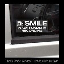Sonrisa-En coche cámara de grabación-ventana calcomanía / señal-Seguridad / Cctv