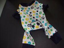 New listing blue Sleepy Time Dot Pajamas pjs Dog new fashion pet Xsmall Xs