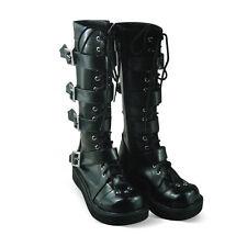 schwarz damen-stiefel boots Shoes Schuhe steam-punk gotik gothic sexy Trendy neu
