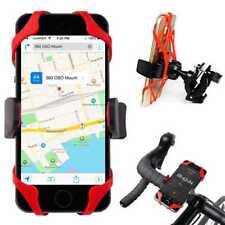 Soporte de Móvil Bicicleta Moto Manillar Goma Sujecion Negro Rojo para Samsung