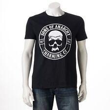 Sons of Anarchy SAMCRO Jax Skull TEE SOA T Shirt MOTORCYCLE CLUB Charming CA Jax