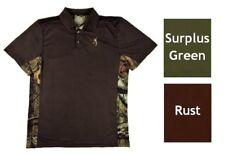 Browning Youth Flint Short Sleeve Polo Boys Performance Shirt Brown Green S-XL