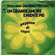 "7"" 1973! Peppino di Capri: un grande amore eniente piu"
