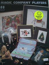 1982 Magic Company Players Cross Stitch Quilt Pattern Book Unicorn  Cherub Bird