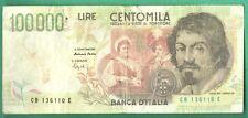 BANCONOTA Lire 100.000 CARAVAGGIO 2° TIPO Falso