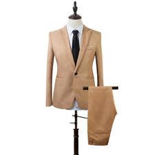2pc Suits Men's Lapel Party Formal Business Wedding Slim Jacket Pants Blazer New