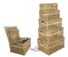 Korb Schrankkorb Regalkorb Aufbewahrungskorb mit Deckel Seegrass Wasserhyazinthe