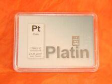 Platin Platinbarren 999,5 Zertifikat Geschenk Auswahl 1g 2g 4g Pt Element