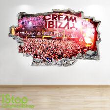 IBIZA ADESIVO DA PARETE 3D LOOK FESTIVAL MUSICALE DISCOTECA CAMERA DA LETTO