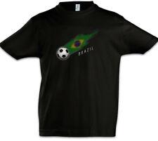 Brazil Football Comet I Kids Boys T-Shirt brazilian Soccer Flag Championship
