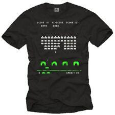 Old School Nerd Computer T-Shirt SPACE INVADERS Big Bang Theory Sheldon Geek NEU