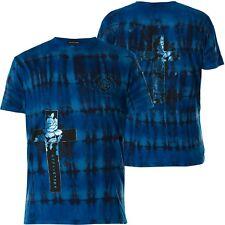Affliction T-Shirt Cross Of Souls Blue