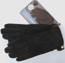 Damen Lederhandschuhe 7 7,5 8 Handschuhe Leder Textilfutter Velourleder TOP NEU