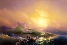 THE NINTH WAVE BY IVAN AIVAZOVSKY  CANVAS BOX PRINT A4, A3, A2, A1