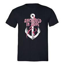 Anchor Breast Cancer awareness T-shirt Hope PINK Ribbon survivor support Tshirt