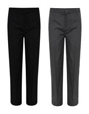 Boys Slim Fit School Trousers Black & Grey School Uniform Regular Long Plus Fit