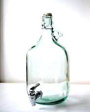 > 5 Liter Weinballon + Hahn mit Bügelverschluss <   Glasballon Gärballon Brauen