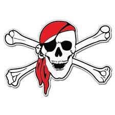 Pirate Skull Bandana Arrr Styling Car Vinyl Sticker - SELECT SIZE