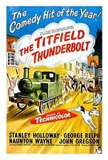 La titfield Thunderbolt, película vieja Publicidad De Pared Arte Cartel reproducción.