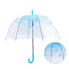 Automatik Damen Regenschirm Reisen Stockschirm Langschirm Transparenter umbrella
