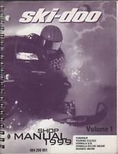 1999 SKI-DOO SNOWMOBILE SHOP MANUAL VOLUME 1 SERIES
