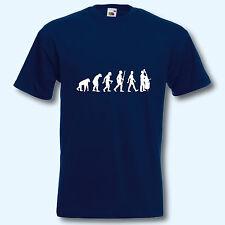 T-Shirt, Fun-Shirt, Evolution Kontrabass, Musik, Musiker, Streicher, Klassik