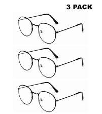 3 Pack Women Metal Retro Round Oversized Reading Glasses 1.0 1.5 2.0 2.5 3.0 3.5