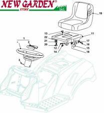 Vista desarrollada asiento e volante tractor podadora 98cm XD140 CASTELGARDEN