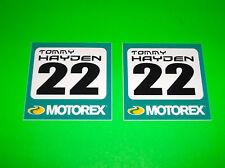 MOTOREX 2 4 STROKE MOTOR OIL TOMMY HAYDEN # 22 MOTORCYCLE RACING STICKERS DECALS