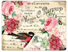 Vintage Image Pink Roses Birds Postcards Labels Furniture Transfers Decal BIR841