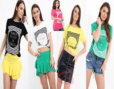 Womens Ladies Short Sleeve Believe In Yourself Print Crew Neck T Shirt Top 8-14