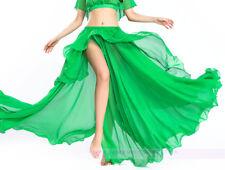New Soft Belly Dance Costume Chiffon Skirt Coiling Skirt Split Skirt 11 colors