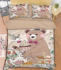 3D Child Bear5 Bed Pillowcases Quilt Duvet Cover Set Single Queen King CA Summer