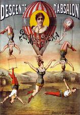 TZ64 Vintage Descente D'Absalon Acrobats Circus Carnival Poster Re-Print A4