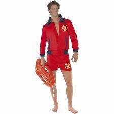 Baywatch Lifeguard Shirt Shorts Beach US TV Show Adults Mens Fancy Dress Costume