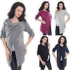 Purpless Maternity Pregnancy Nursing Sweater Cardigan Poncho Top Knit Coat B9005