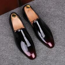 Retro Mens Slip on shiny Patent Leather Casual Nightclub British formal Shoes