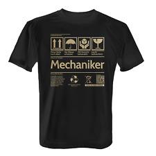 Etikett Mechaniker Herren T-Shirt Geschenk Idee Kfz Mechaniker Schrauber Beruf