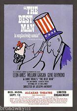 "Gore Vidal's ""THE BEST MAN"" Leon Ames / Gene Raymond 1960 San Francisco Flyer"
