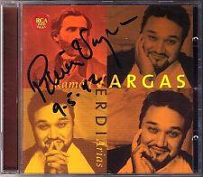 Ramon VARGAS Signiert VERDI Ernani Alzira Attila I due Foscari Il Trovatore CD