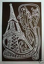 Yvon TAILLANDIER Sérigraphie Originale Signée art brut figuration libre
