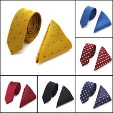 Men's Skinny Tie Set Neck ( Ties Handkerchief ) Slim Narrow Neckwear Hanky Lot