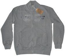 MAGLIA FELPA UOMO M L XL XXL 3XL giacca zip grigio acid washed cotone Be Board